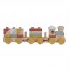 Holz-Eisenbahn mit Steckformen – 22-teilig